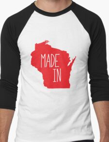 Made in Wisconsin - Red Men's Baseball ¾ T-Shirt