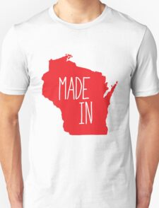 Made in Wisconsin - Red Unisex T-Shirt