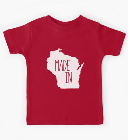 Made in Wisconsin - White Kids Tee