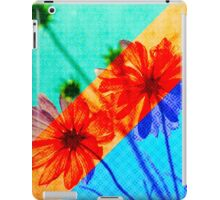 Psychedelic Collage Otherworldly Cosmos Flowers iPad Case/Skin