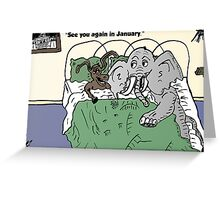 Capitol capital compromise cartoon Greeting Card