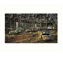 Abandoned Bumper Cars Prypiat/Chernobyl Art Print