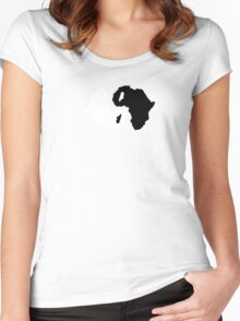Africa ying yang Women's Fitted Scoop T-Shirt