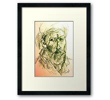 drawing of vincent VG Framed Print
