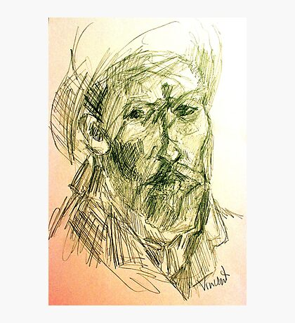 drawing of vincent VG Photographic Print