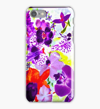 Orchids in mauve iPhone Case/Skin