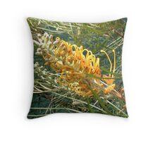 Yellow Grevillea Throw Pillow