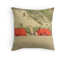 Camels on Cable Beach, Broome Throw Pillow