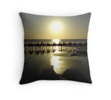 Camels at sunset on Cable Beach, Broome Throw Pillow