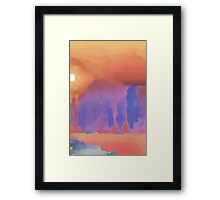 dry bed Framed Print