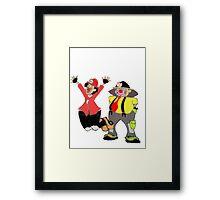 Clown Town Framed Print
