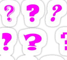 Question Marks Sticker