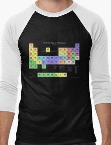 Periodic Table of Europeans T-shirt (dark) Men's Baseball ¾ T-Shirt