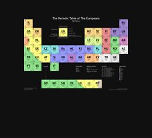 Periodic Table of Europeans T-shirt (dark) T-Shirt