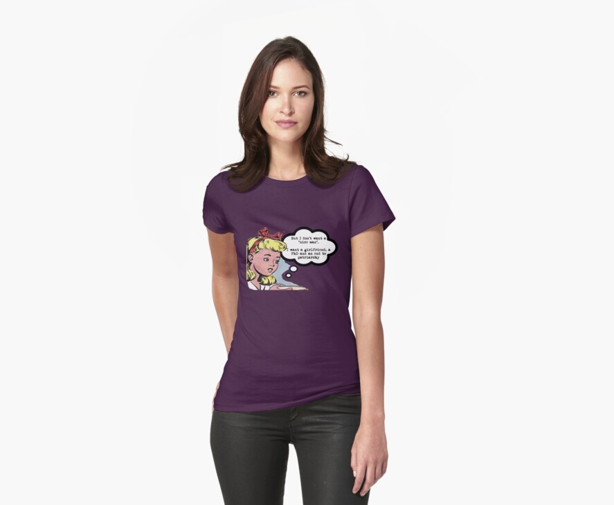 """I don't want a """"nice man"""" - feminist tee by incurablehippie"""