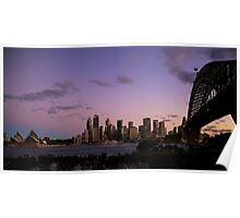 Sydney Skyline from Kirribilli Shore Poster