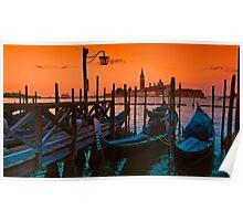 Venezia Gondola Sunrise Poster