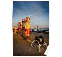 Bollards ~ Surf Life Savers, Eastern Beach Poster