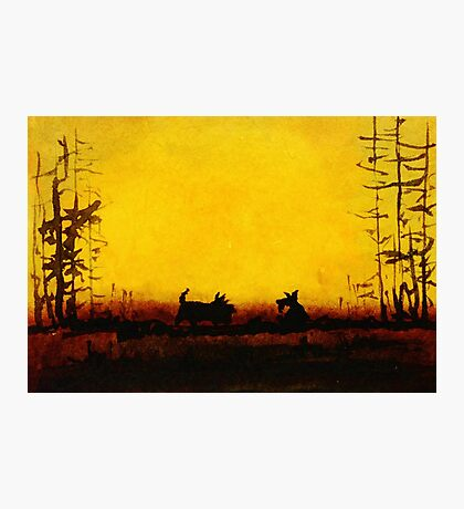 Scottie Dogs at Dusk Photographic Print