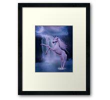 blue unicorn Framed Print