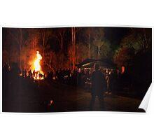 Bonfire in the Bush Poster