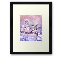 pink unicorn Framed Print