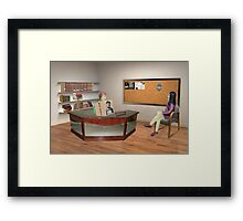 If you want to become a detective Sally, you've got to stop referring to this as Facebook! Framed Print