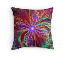 J R Flower Throw Pillow
