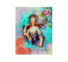 Marie Antoinette - Let them eat cupcake Art Print