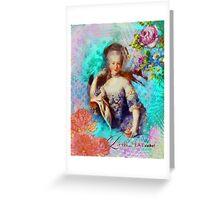 Marie Antoinette - Let them eat cupcake Greeting Card