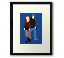 Amy and Rory - Doctor Who Framed Print