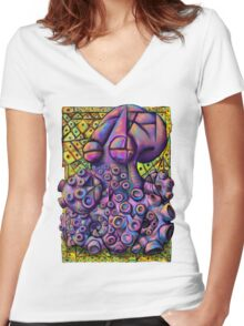 Picassopus Women's Fitted V-Neck T-Shirt