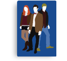 Eleven, Amy and Rory - Doctor Who Canvas Print