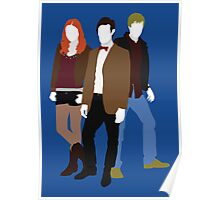 Eleven, Amy and Rory - Doctor Who Poster