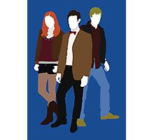 Eleven, Amy and Rory - Doctor Who Photographic Print