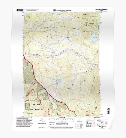 USGS Topo Map  Vermont VT Mount Holly 337538 1997 24000 Poster