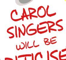 TARDIS Sign - DW Christmas Special Sticker
