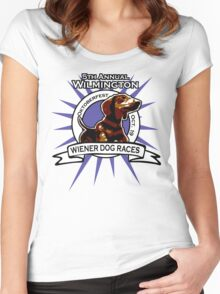 5th Annual Wilmington Wiener Dog Races Women's Fitted Scoop T-Shirt