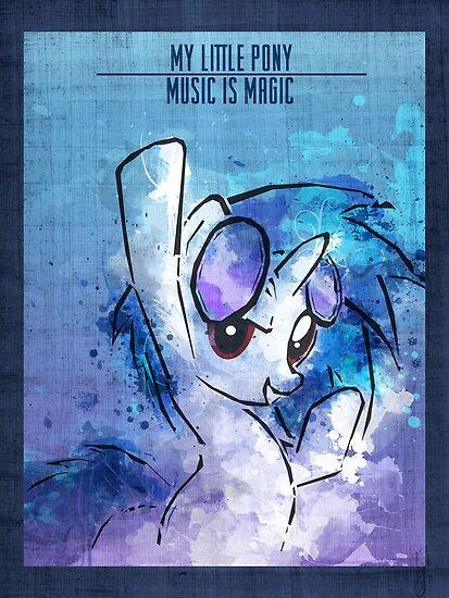 Poster: Vinyl Scatch by kimjonggrill