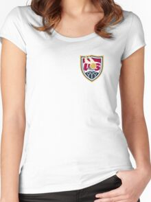 United States of America Quidditch Logo Small Women's Fitted Scoop T-Shirt