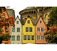 Pastel houses Photographic Print