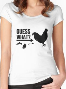 Guess What? Chicken Butt. Women's Fitted Scoop T-Shirt