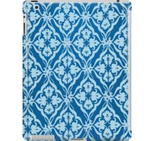 blue floral design iPad Case/Skin