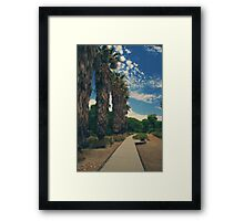 Let's Walk This Path Together Framed Print