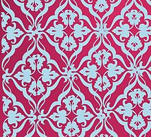 pink and blue floral design by ciarramc