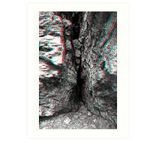 Rock Crevice - 3D Art Print