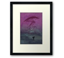 The pilgrim and the mushroom temple Framed Print