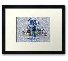 Mosaic: Monsters, Inc Framed Print