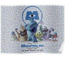 Mosaic: Monsters, Inc Poster