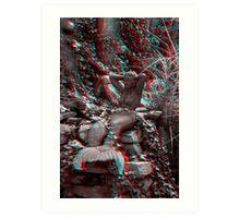 Garden Mermaid - 3D Art Print